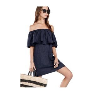 REFORMATION Tennessee Dress in Navy